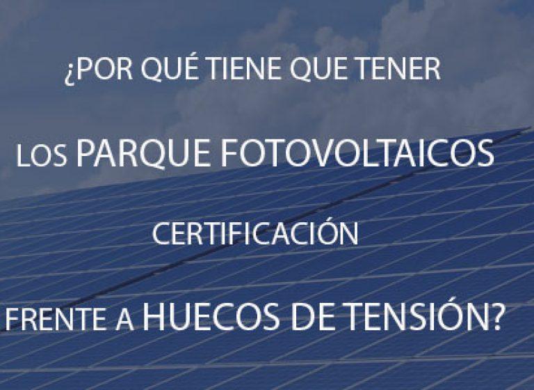 huecos de tensión fotovoltaica